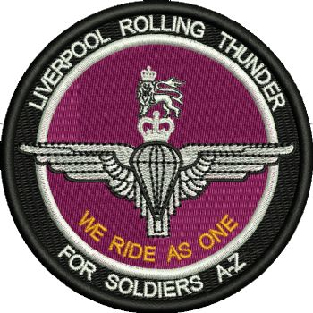 Liverpool Rolling Thunder Embroidered Badge